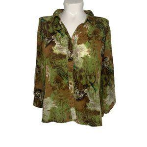 CATO Woman Size 26/28W Button Down Blouse - A1609